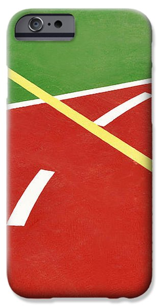 Basketball court iPhone Case by Luis Alvarenga