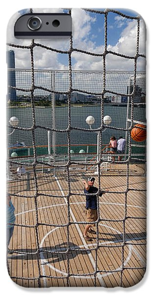 Basketball Court on Cruise Ship iPhone Case by Amy Cicconi