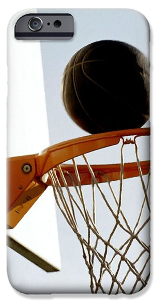 Basketball hoop and ball iPhone Case by Lanjee Chee