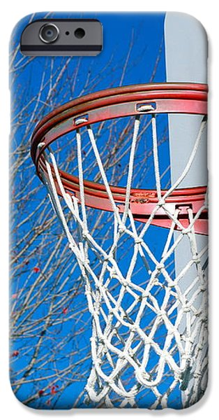 Basketball Net iPhone Case by Valentino Visentini