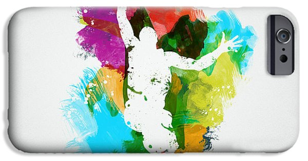 Painted Mixed Media iPhone Cases - Basketball Player iPhone Case by Aged Pixel