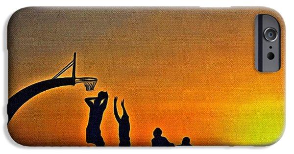 Nba iPhone Cases - Basketball Sunrise iPhone Case by Florian Rodarte