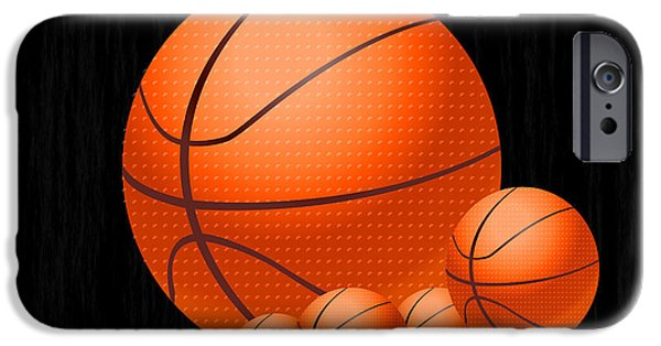 Multimedia iPhone Cases - Basketballs iPhone Case by Tina M Wenger