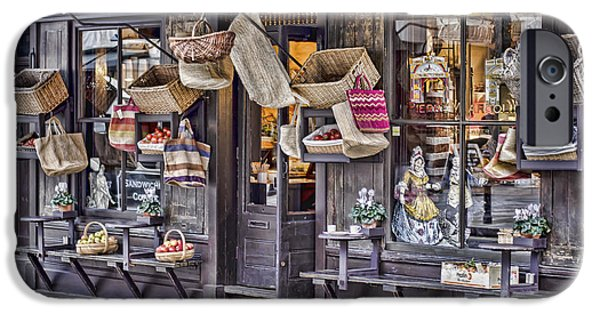 Wooden Crate iPhone Cases - Baskets For Sale iPhone Case by Heather Applegate