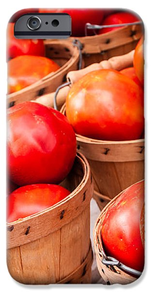 Baskets of Tomatoes at a Farmers Market iPhone Case by Teri Virbickis