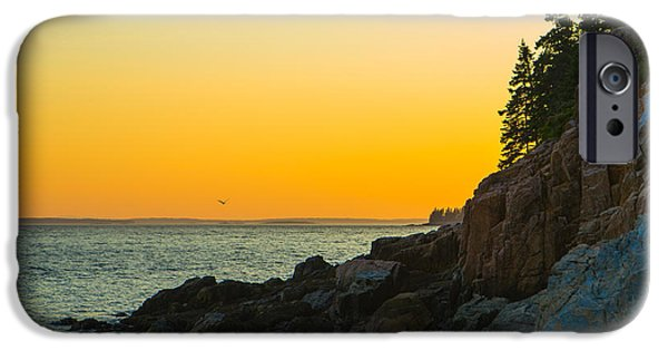 Rocky Maine Coast iPhone Cases - Bass Harbor  iPhone Case by Diane Diederich