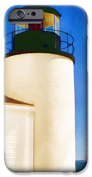 New England Lighthouse iPhone Cases - Bass Harbor Head Lighthouse Maine iPhone Case by Carol Leigh
