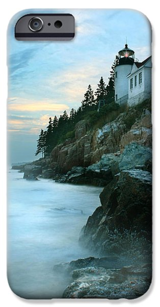 Lighthouse iPhone Cases - Bass Harbor Lighthouse iPhone Case by Lori Deiter