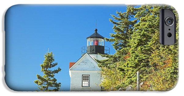 New England Lighthouse iPhone Cases - Bass Harbor Lighthouse Mount Desert Island Maine iPhone Case by Keith Webber Jr