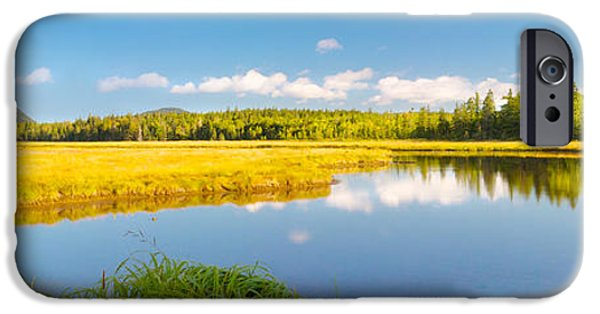 Autumn iPhone Cases - Bass Harbor Marsh Panorama Acadia National Park Photograph iPhone Case by Keith Webber Jr