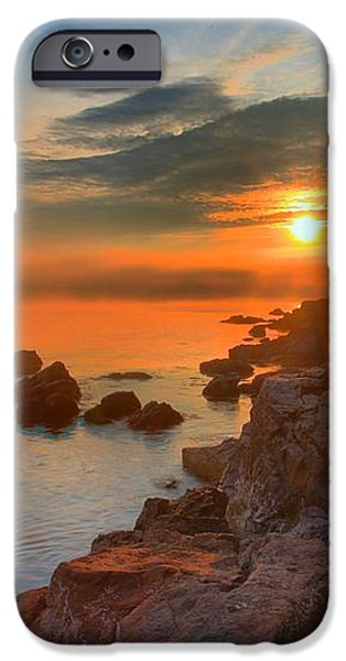 Bass Harbor Sunset iPhone Case by Adam Jewell