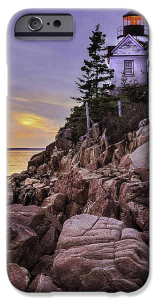 New England Lighthouse iPhone Cases - Bass Head Lighthouse iPhone Case by Thomas Schoeller