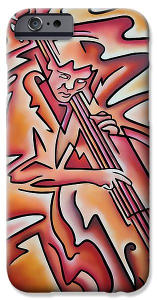 Upright Bass iPhone Cases - Bass Lines iPhone Case by Rick Borstelman