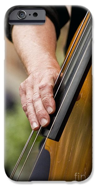 Doghouse iPhone Cases - Bass player iPhone Case by Rolf Adlercreutz