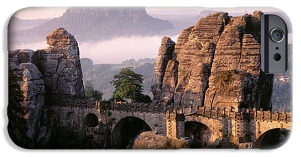 Pastel iPhone Cases - Bastei, Saxonian Switzerland National iPhone Case by Panoramic Images