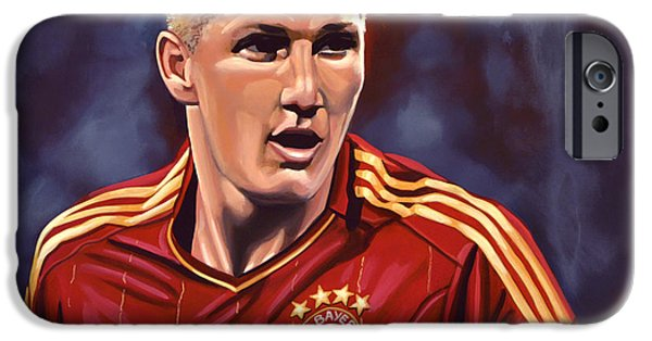 Concentration iPhone Cases - Bastian Schweinsteiger iPhone Case by Paul  Meijering
