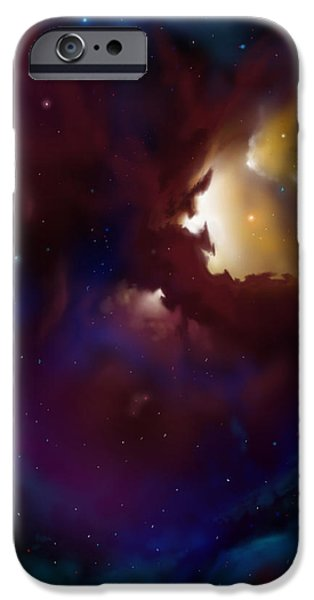 Star System Paintings iPhone Cases - Bat Nebula iPhone Case by James Christopher Hill