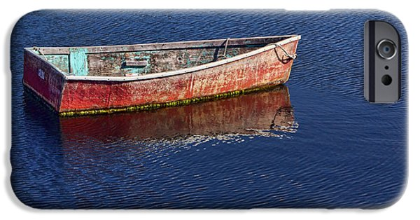 Rockport Ma iPhone Cases - Bateau a Rames iPhone Case by Nikolyn McDonald