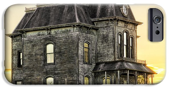 Haunted House iPhone Cases - Bates Motel Haunted House iPhone Case by Paul W Sharpe Aka Wizard of Wonders