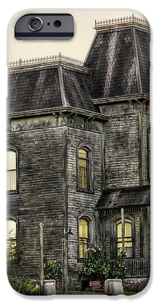 Bates Motel Haunted House iPhone Case by Paul W Sharpe Aka Wizard of Wonders