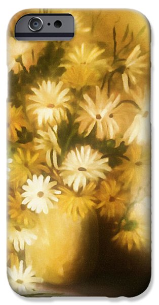 Sun Rays Mixed Media iPhone Cases - Bathed In White Light iPhone Case by Georgiana Romanovna