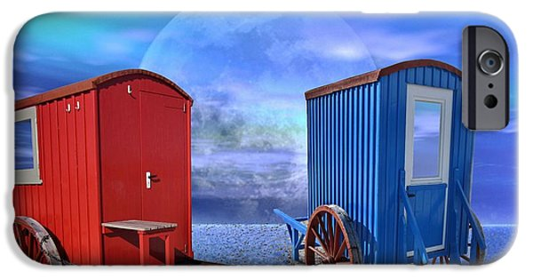 Bathing iPhone Cases - Bathing Trolley iPhone Case by Manfred Lutzius