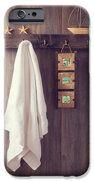 Ledge iPhone Cases - Bathroom Wall iPhone Case by Amanda And Christopher Elwell