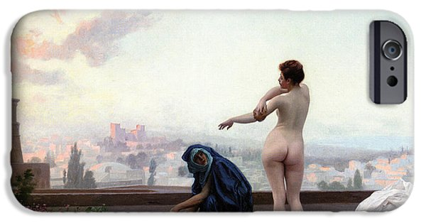 Bathing iPhone Cases - Bathsheba iPhone Case by Jean-Leon Gerome