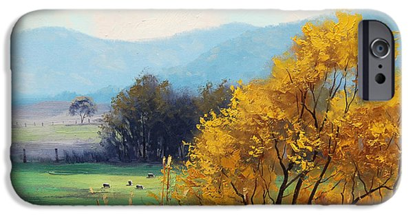 Rural iPhone Cases - Bathurst Landscape iPhone Case by Graham Gercken
