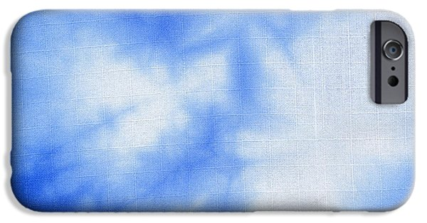 Clouds Tapestries - Textiles iPhone Cases - Batik blue and white iPhone Case by Kerstin Ivarsson