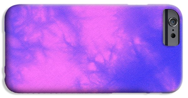 Texture Tapestries - Textiles iPhone Cases - Batik in purple and pink iPhone Case by Kerstin Ivarsson