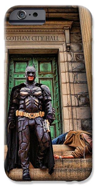 Batman - Dark Knight Hunter of Predators  iPhone Case by Lee Dos Santos