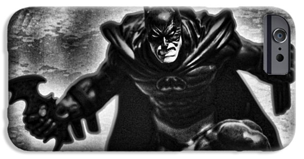 Justice League iPhone Cases - Batman - The Dark Knight iPhone Case by Lee Dos Santos