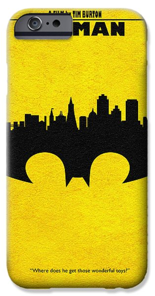 Nerd iPhone Cases - Batman - 1989 iPhone Case by Ayse Deniz