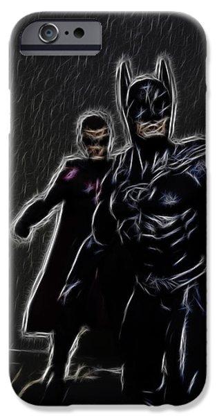 Batman and Robin iPhone Case by Lee Dos Santos