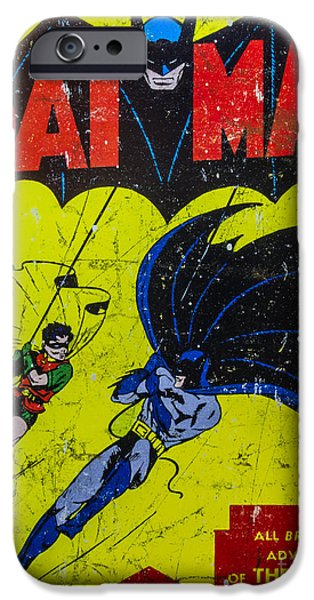 Batman And Robin iPhone Case by Mitch Shindelbower