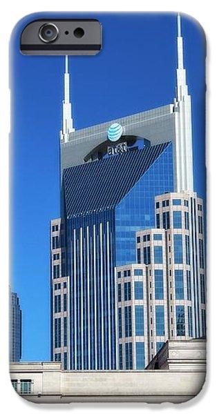 Batman Building And Nashville Skyline iPhone Case by Dan Sproul