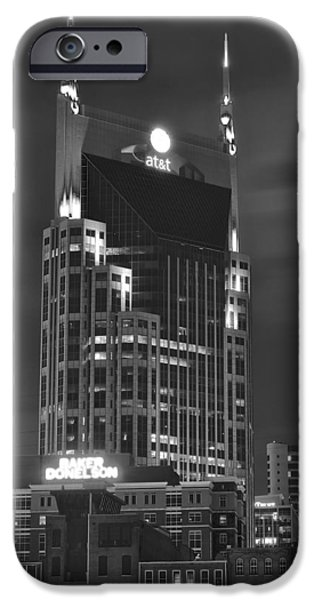 Inner World iPhone Cases - Batman Building Complete with Bat Signal iPhone Case by Frozen in Time Fine Art Photography