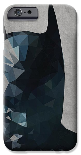 Cool Art iPhone Cases - Batman iPhone Case by Daniel Hapi