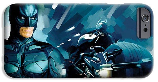 Dark Knight iPhone Cases - Batman - Dark Knight Artwork iPhone Case by Sheraz A