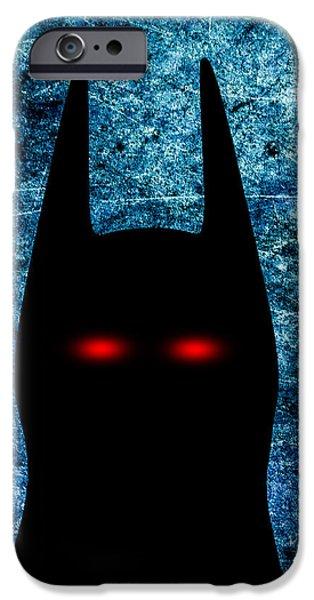 Batman - Dark Knight Number 1 iPhone Case by Bob Orsillo