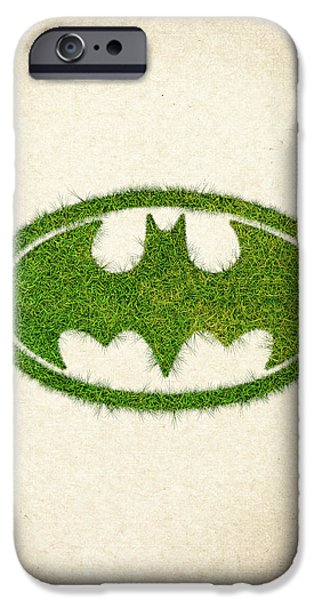 Waste iPhone Cases - Batman Grass Logo iPhone Case by Aged Pixel