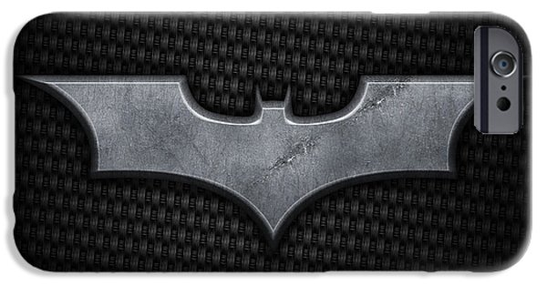 Metal iPhone Cases - Batman iPhone Case by Kyle Margold