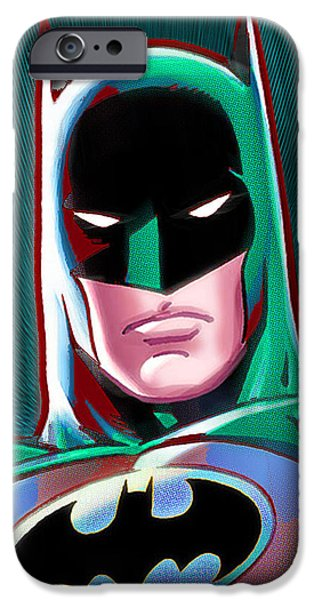 Empower iPhone Cases - Batman Pop iPhone Case by Tony Rubino