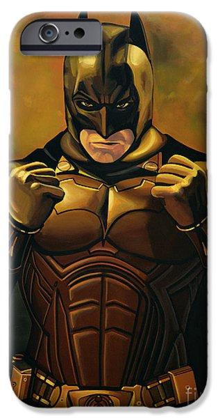 Dark Knight iPhone Cases - Batman The Dark Knight iPhone Case by Paul  Meijering