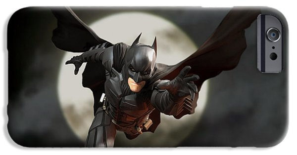 Bales iPhone Cases - Batman - The Dark Knight iPhone Case by Paul Tagliamonte