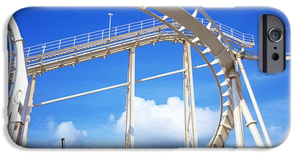 Rollercoaster Photographs iPhone Cases - Batman The Escape Rollercoaster iPhone Case by Panoramic Images
