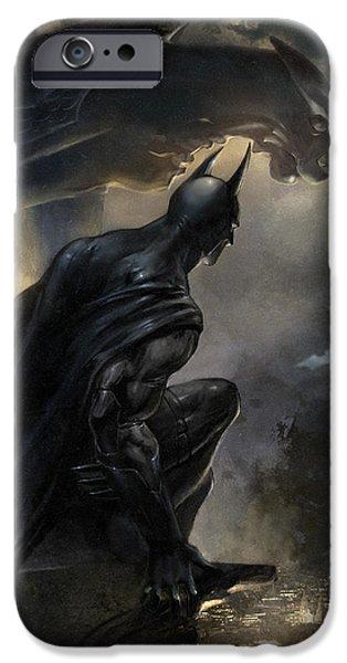 Dark Knight iPhone Cases - Batman The Signal iPhone Case by Ashraf Ghori