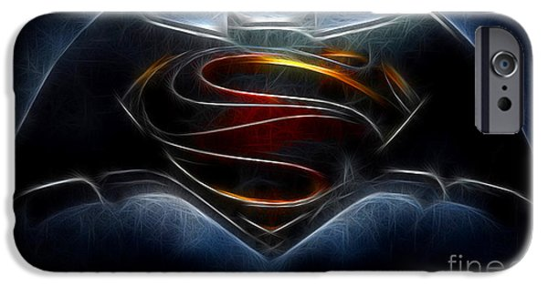 Dc Universe iPhone Cases - Batman v Superman - Dawn of Justice  iPhone Case by Michael Braham