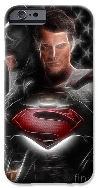 Dc Universe iPhone Cases - Batman vs Superman  iPhone Case by Michael Braham